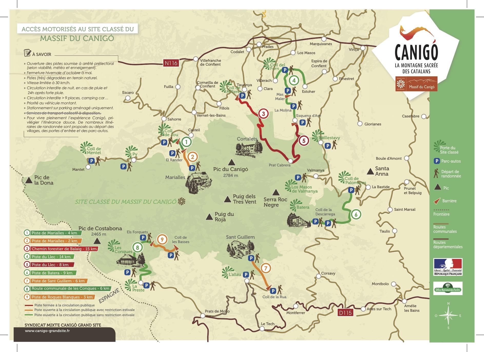 Accès motorisé au site classé du massif du Canigó