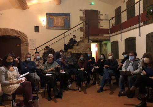 Le groupe de travail Dynamiques territoriales collectives à La Fabrica à Ille-sur-Tet / Canigó Grand Site