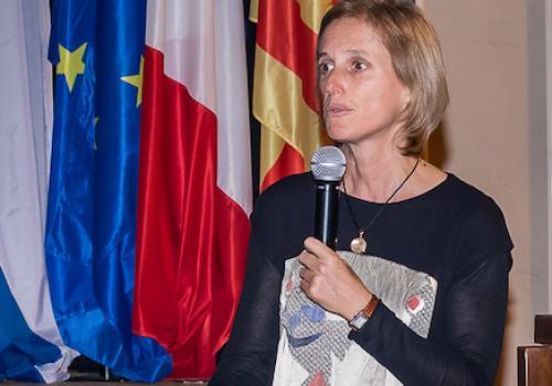Ségolène Neuville accueille les participants à la réunion Canigó à Ille sur Tet le 14/01/2019 / A. ORTIZ