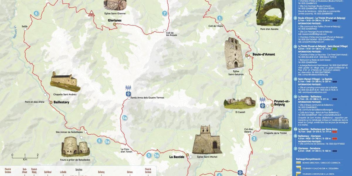Carte du tour de Santa Anna / SMCGS