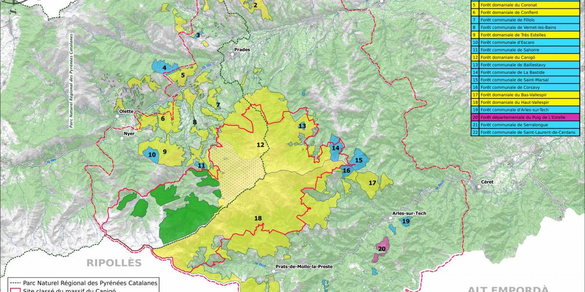 Carte des forêts publiques / SMCGS