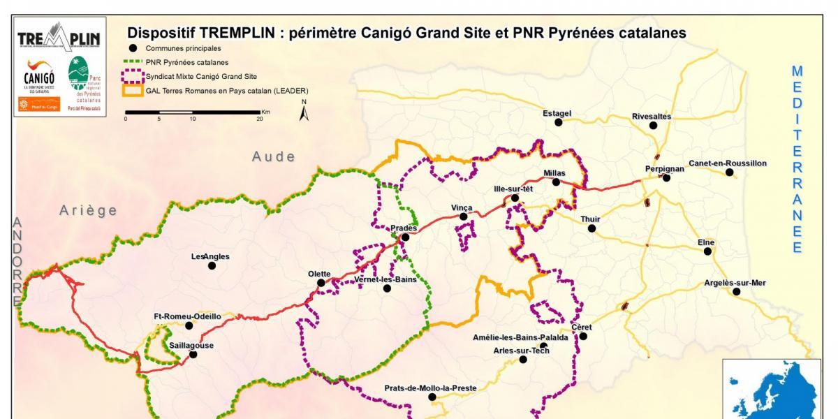 Carte du dispositif Tremplin / SMCGS - PNRPC