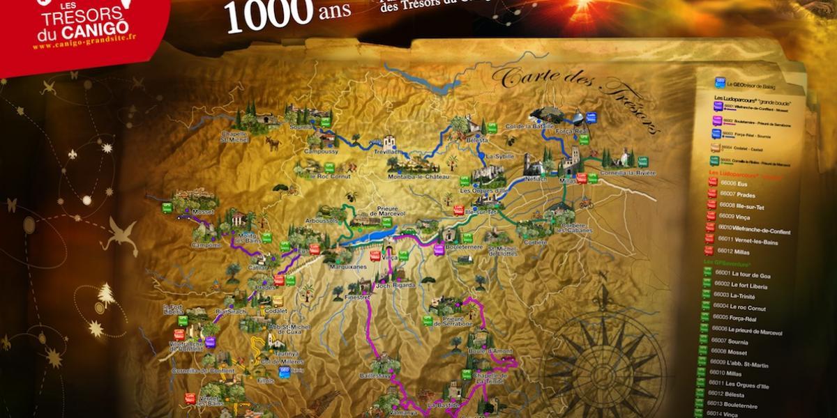 Carte aux trésors du Canigó