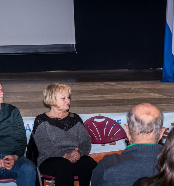 De g à d : les 3 Vices-Président.e.s Daniel Baux, Jacques Taurinya et Damienne Beffara, puis Ségolène Neuville Présidente du Smcgs / A.Ortiz