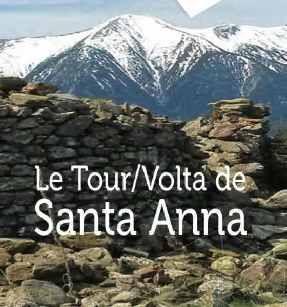 Dépliant-carte du tour de Santa Anna