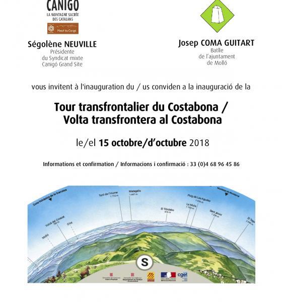 Invitation inauguration tour du Costabona