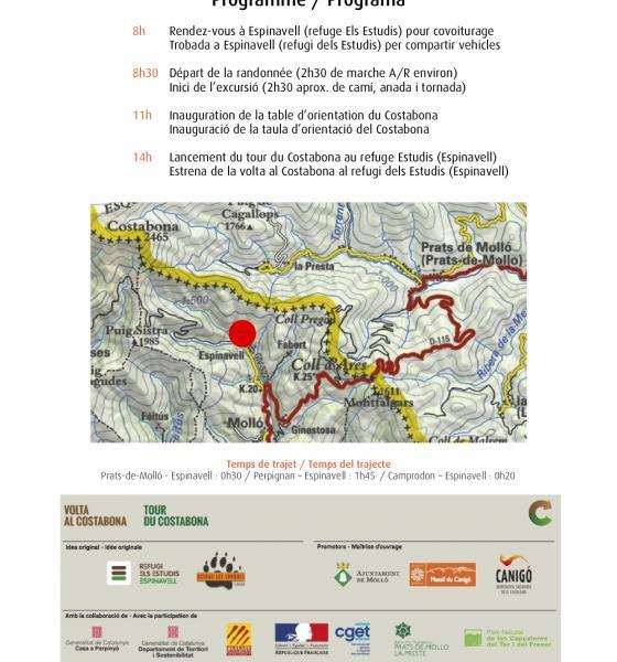 Programme inauguration tour du Costabona